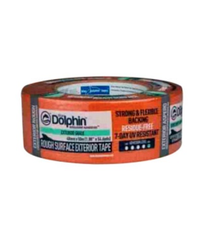 Blue Dolphin Exterior Rough Surface Masking Tape (Orange) 48mm x 50m