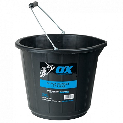 OX TRADE 15L BLACK BUCKET